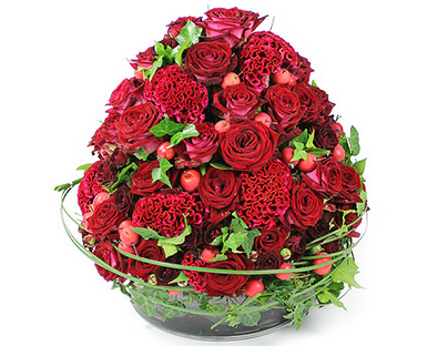 Amalfi flower arrangement for same day flower delivery London and next day flower delivery UK. Summer flower centrepieces