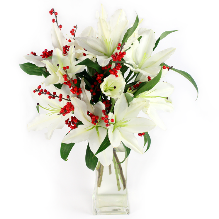 Lilies & Berries same day delivery london uk january flowers delivery london uk same day delivery london florist winter flowers delivery
