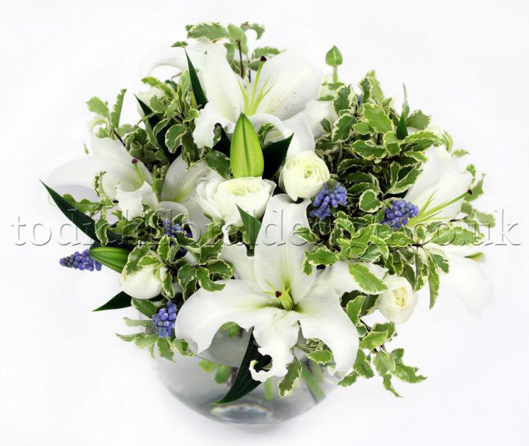 Lilies january flowers delivery london uk same day delivery london florist winter flower arrangements delivery