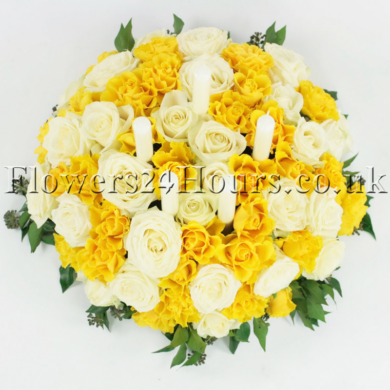 Shimmering Gold Party Flowers Same Day Delivered