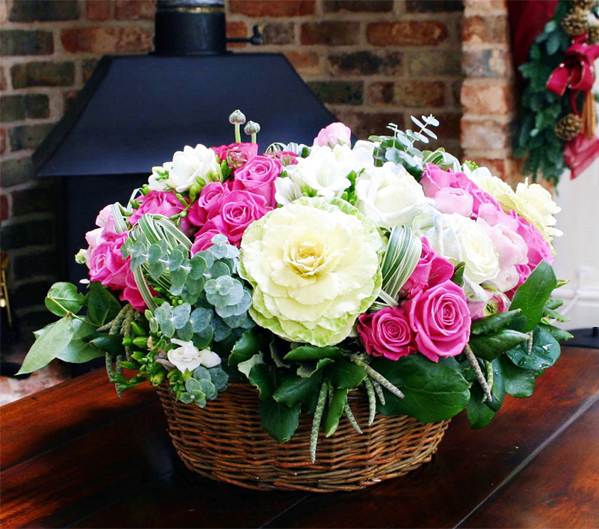The gift of christmas flowers