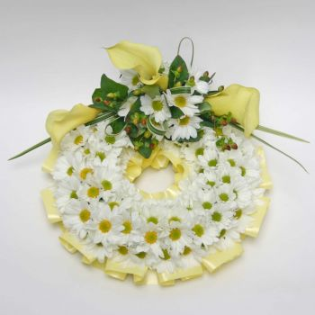 funeral-wreath-white-and-yellow-flowers-london-florists