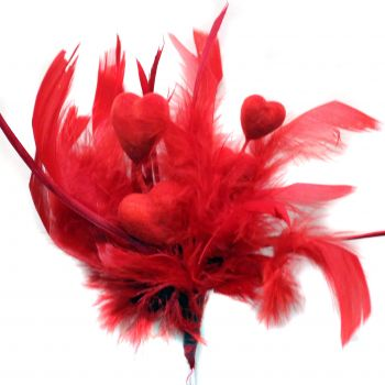Fluffy Valentine Pick -Perfect for a bouquet