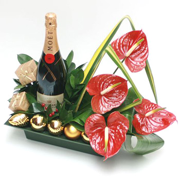 champagne-for-christmas-flowers-delivered-in-london