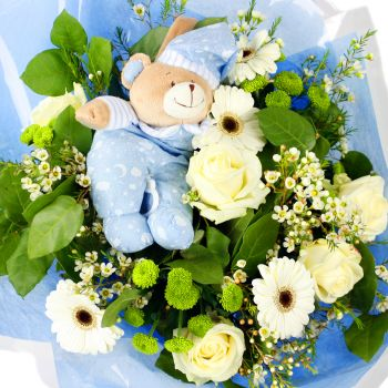 Boy Baby Flower Bouquet Same Day Flower Delivery London Uk