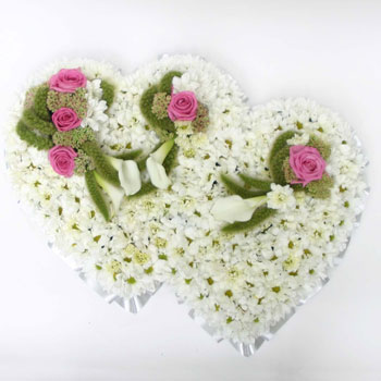 double-heart-flowers-for-new-baby-boy-uk