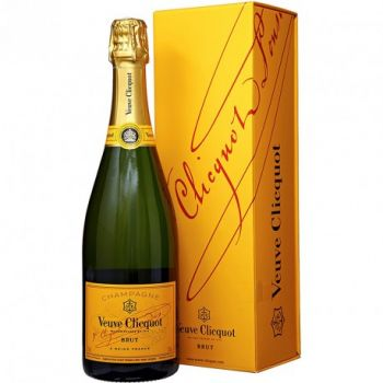 VEUVE CLICQUOT - YELLOW LABEL WITH GIFT BOX