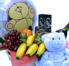 New Baby Boy Fruit Basket