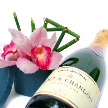 Orchid and Moet & Chandon