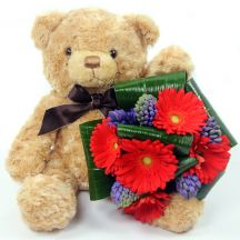 Benny the Bear & Bouquet