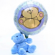 Baby Boy Teddy & Balloon