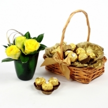 Ferrero Rocher Chocolate Basket Giftset