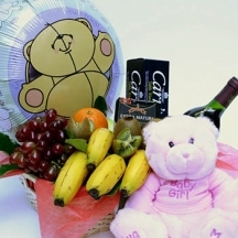 New Baby Girl Fruit Basket