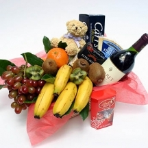 Fruit, Wine and Gourmet Basket