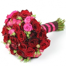 Passionata - pink and red rose bouquet