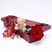 Treats in a box-Red rose