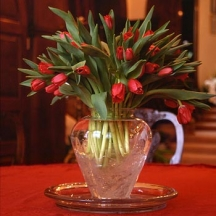 A Vase of Tulips - Valentines