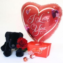 Rose,Cuddly Dog, Lindt & Balloon