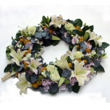 Fresh Flower Loose Open Wreath